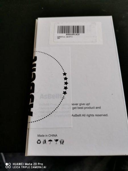 Asbellt Panzerglas für's Mate 20 Pro - Test - Verpackung