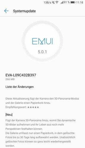 Huawei P9 Firmware Update B397
