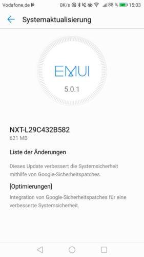 Huawei Mate 8 Update B582