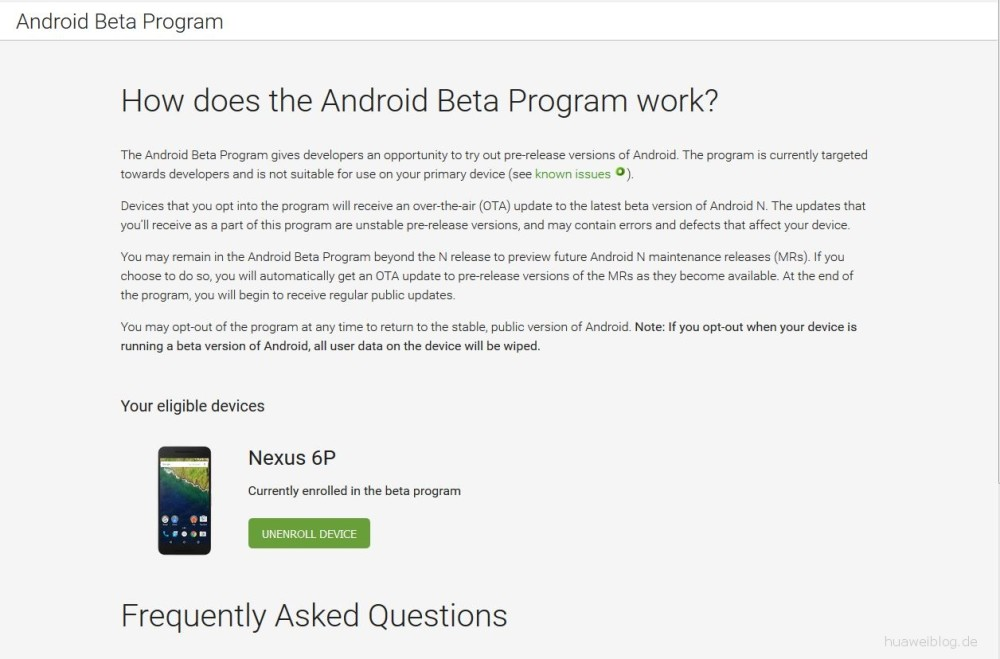 Android N Beta-Programm