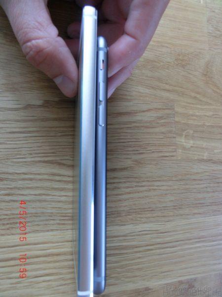 iPhone6 vs. Huawei P8 - Seitenansicht - rechts