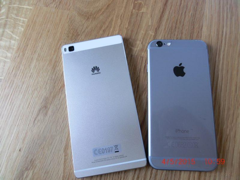 iPhone6 vs. Huawei P8 - Rückansicht