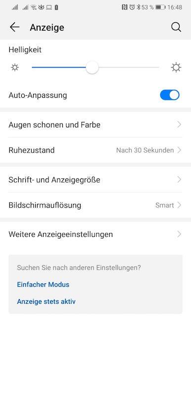 EMUI9_Android9_Test_Eindrücke_Einstellungen