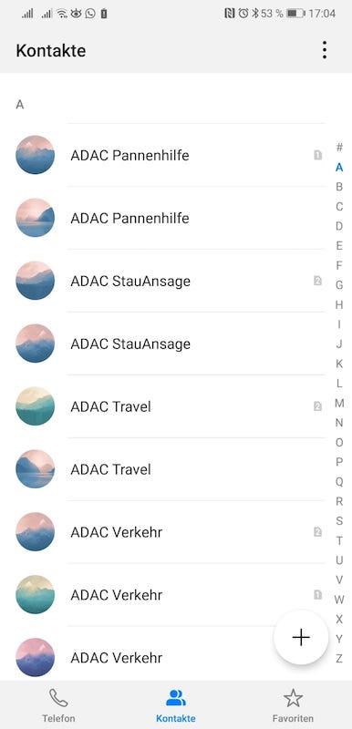 EMUI9_Android9_Test_Eindrücke_Platzhalter_Kontakte