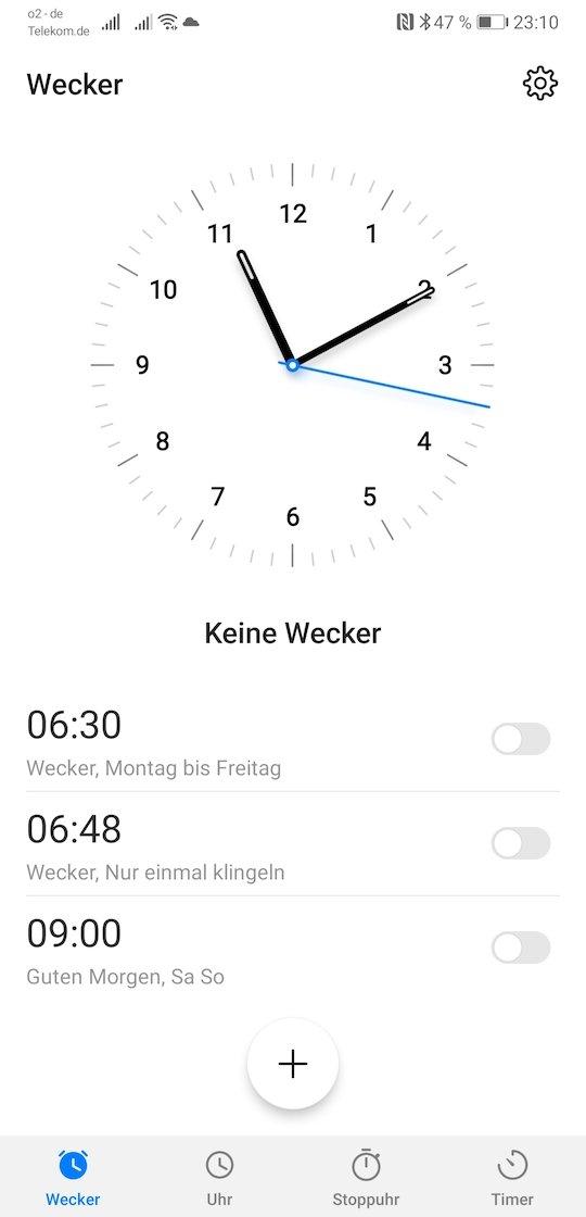 EMUI9_Android9_Test_Eindrücke_Uhr