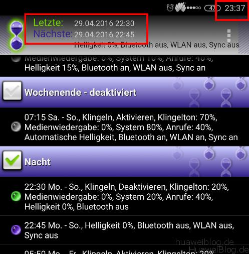 Hintergrund - Apps - Ausführung