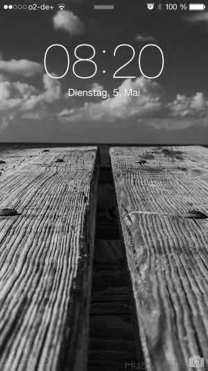 iOS 8 Sperrbildschirm