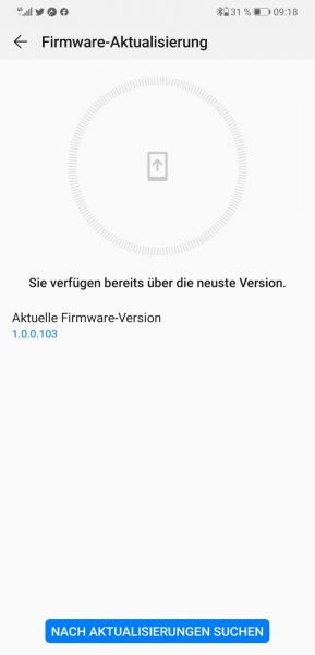 Huawei FreeLace Firmware-Version