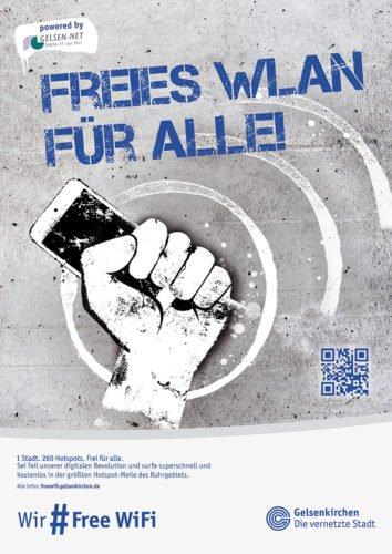 FreeWiFi Gelsenkirchen - Plakat 1