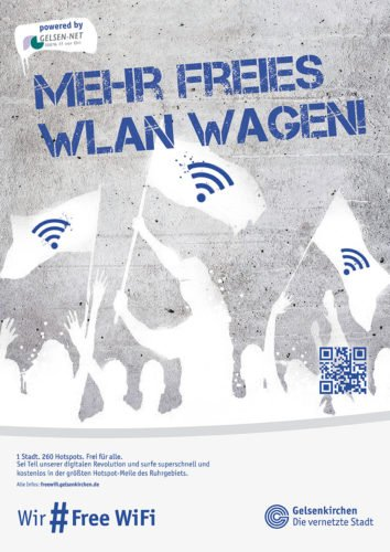 FreeWiFi Gelsenkirchen - Plakat 3