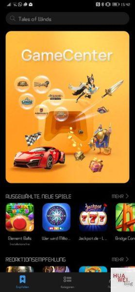 #MarcoMotzt: HUAWEI Game Center App veröffentlicht 2