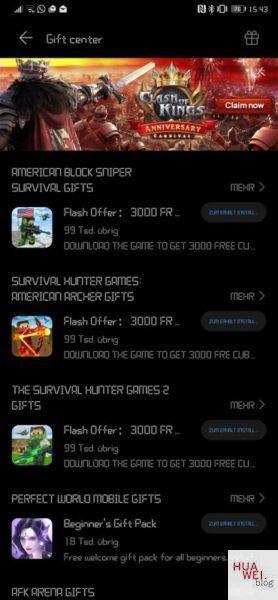 #MarcoMotzt: HUAWEI Game Center App veröffentlicht 11