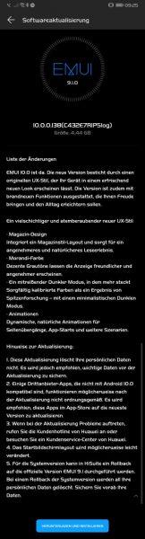 HUAWEI Mate 20 Pro Android 10 Beta EMUI 10 Changelog