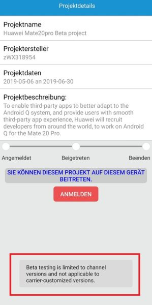HUAWEI Mate 20 Pro Android Q Beta Test Provider Patch