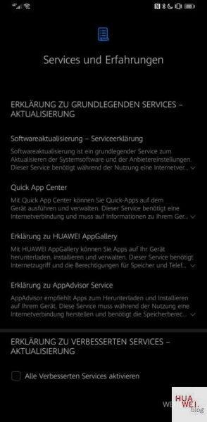 Mate 30 Pro Firmwareupdate EMUI 10.1 Services