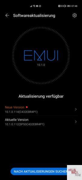 Huawei P40 Pro Firmwareupdate 114