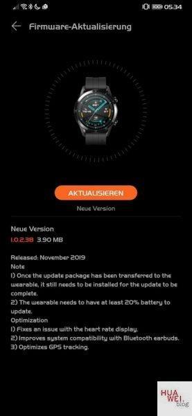HUAWEI Watch GT 2 Update