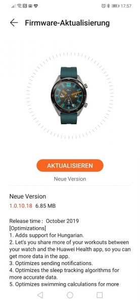 HUAWEI Watch GT Update