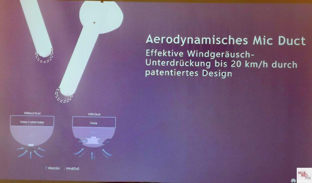 HUAWEI FreeBuds 3 - Aerodynamisches Mic Duct
