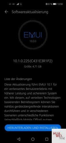 HUAWEI Nova 5T 10.1.0.225 Changelog
