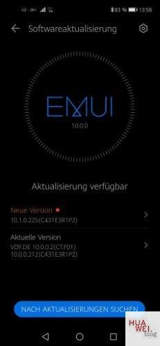 HUAWEI Nova 5T 10.1.0.225 Benachrichtigung