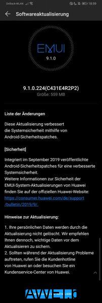 HUAWEI P30 Pro Firmware Update_September 2019 Sicherheitspatch