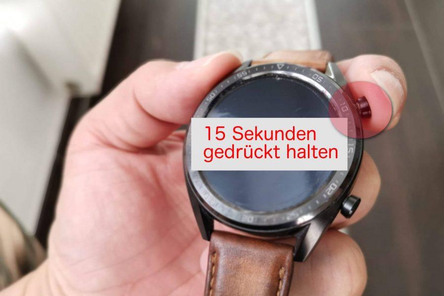 HUAWEI Watch GT - Soft Reset - Display Bildschirm Freeze - Anleitung - HowTo