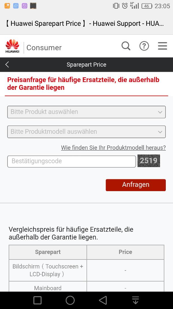 HiCare App Teilepreise