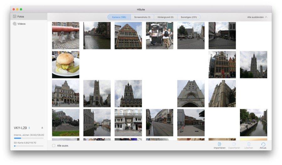 HiSuite für Mac - Übersicht