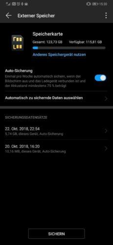 Huawei Backup Datensicherung EMUI 9