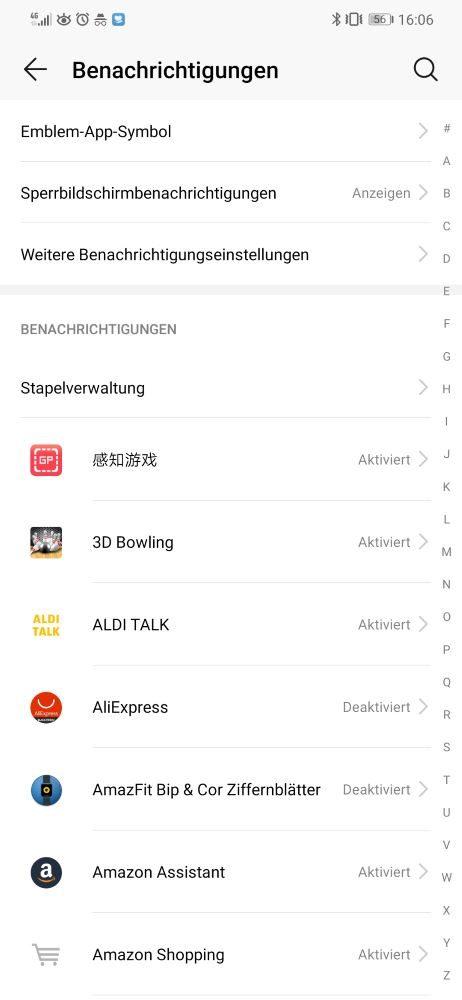 Huawei Benachrichtigungen EMUI 9 Benachrichtigungen
