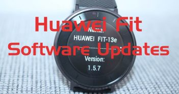 Huawei Fit Updates