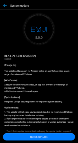Huawei Mate 10 Pro Firmwareupdate 127