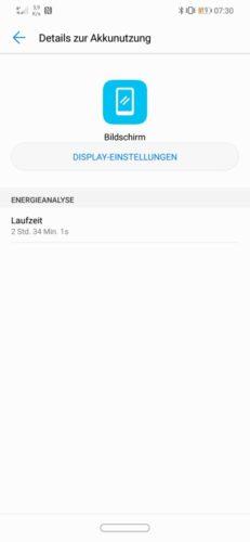 Huawei Mate 20 Lite Akku Laufzeit