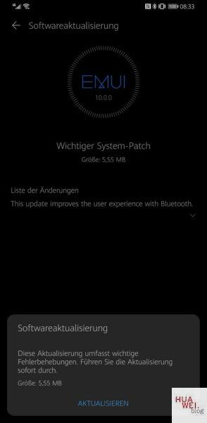 Huawei Mate 30 Pro Firmware Systempatch Changelog