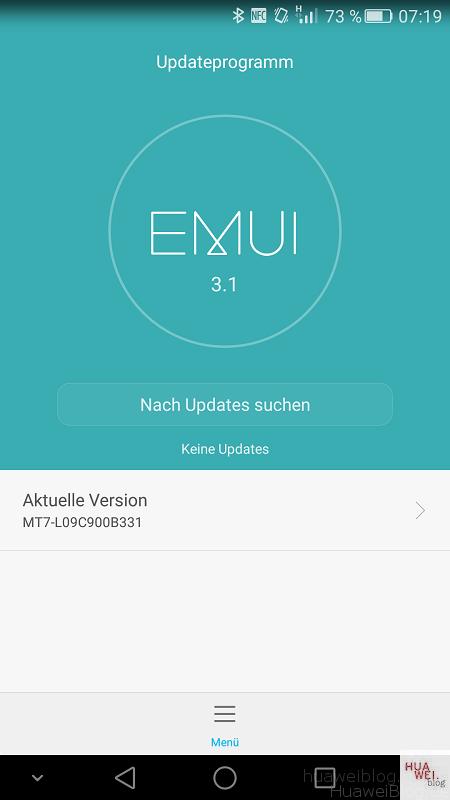 Huawei Mate 7 Firmware Update B331 OTA