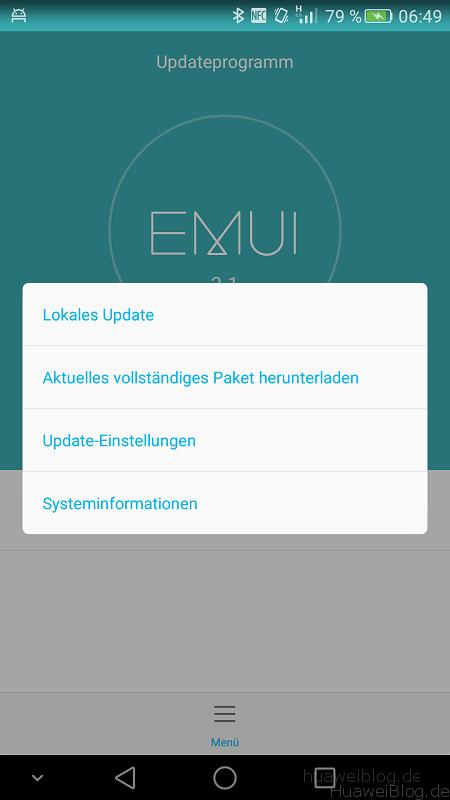 Huawei Mate 7 lokales Update
