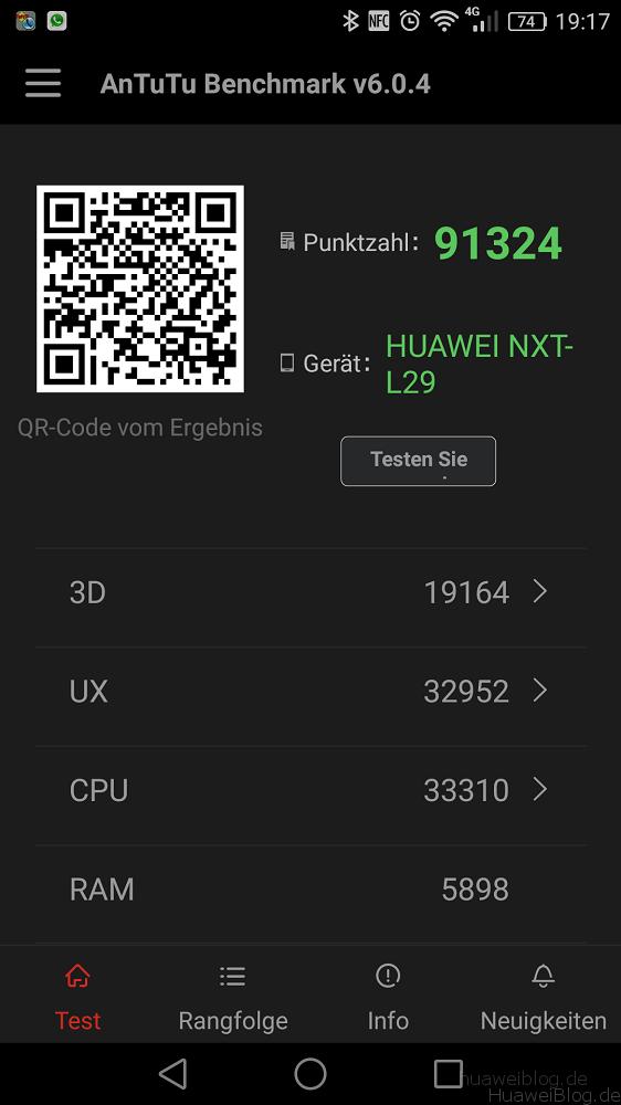 Huawei Mate 8 AnTuTu Benchmark