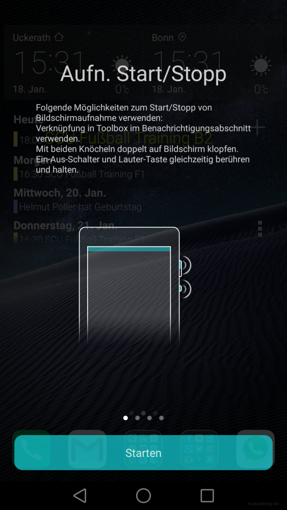 Huawei Mate 8 Screenrecorder