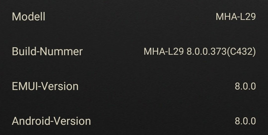 Huawei Mate 9 Firmwareupdate Info