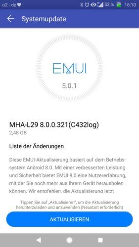 Huawei Mate 9 Oreo Changelog 1