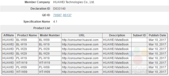 Huawei Mate Book 2 - mehrere Varianten