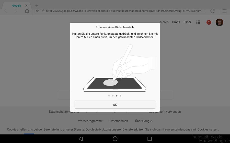 Huawei MediaPad M2 10.0 Stylus Nutzung