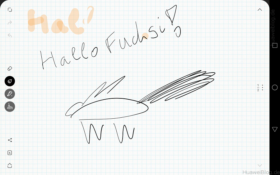 Huawei MediaPad M2 10.0 schreiben zeichnen