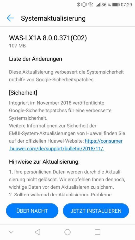 Novemberpatch 2018