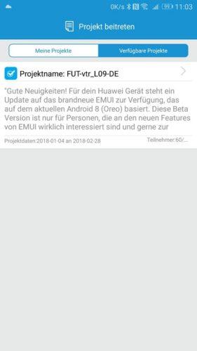 Huawei P10 Oreo Beta