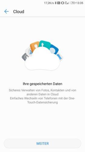Huawei P10 Update B171 Speicher Daten