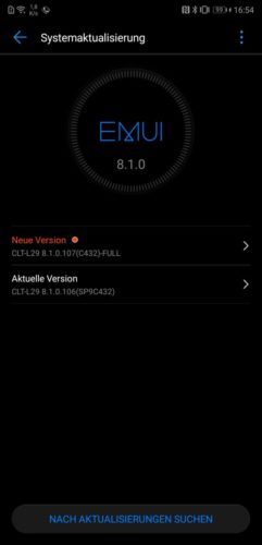 Huawei P20 Pro Firmwareupdate 107