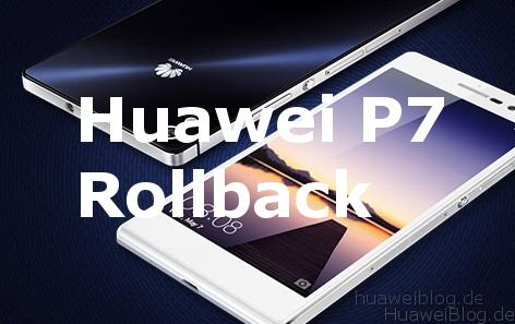 Huawei Ascend P7 Rollback