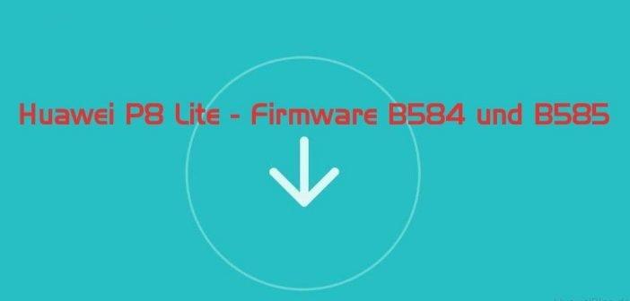 Huawei P8 Lite – Firmware B584 und B585 verfügbar
